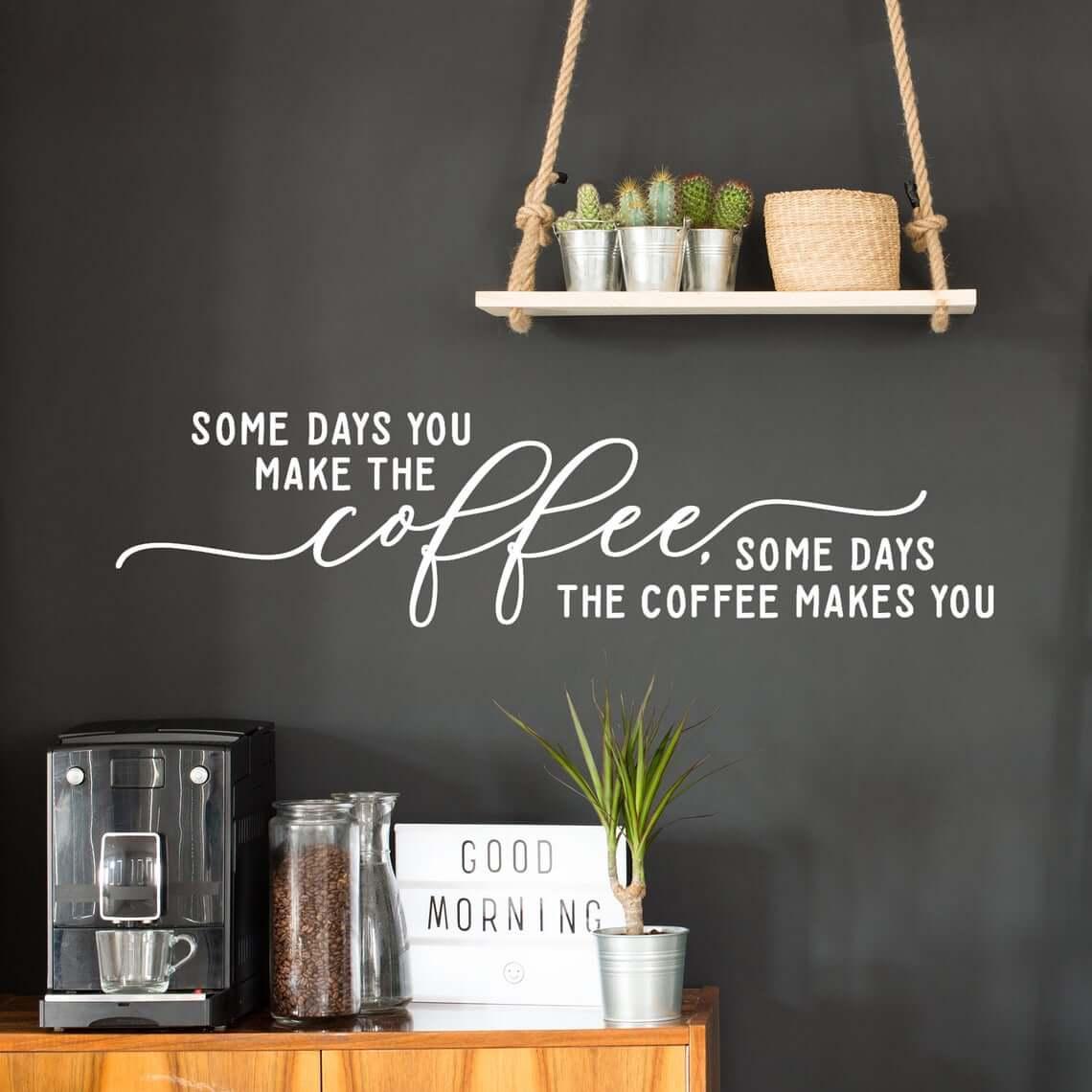 Vinyl Lettering Coffee Bar Styled Kitchen
