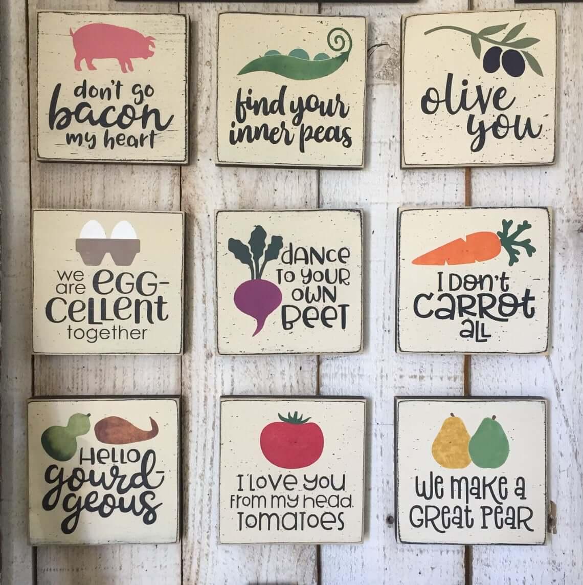 Fun Farm and Garden Kitchen Signs
