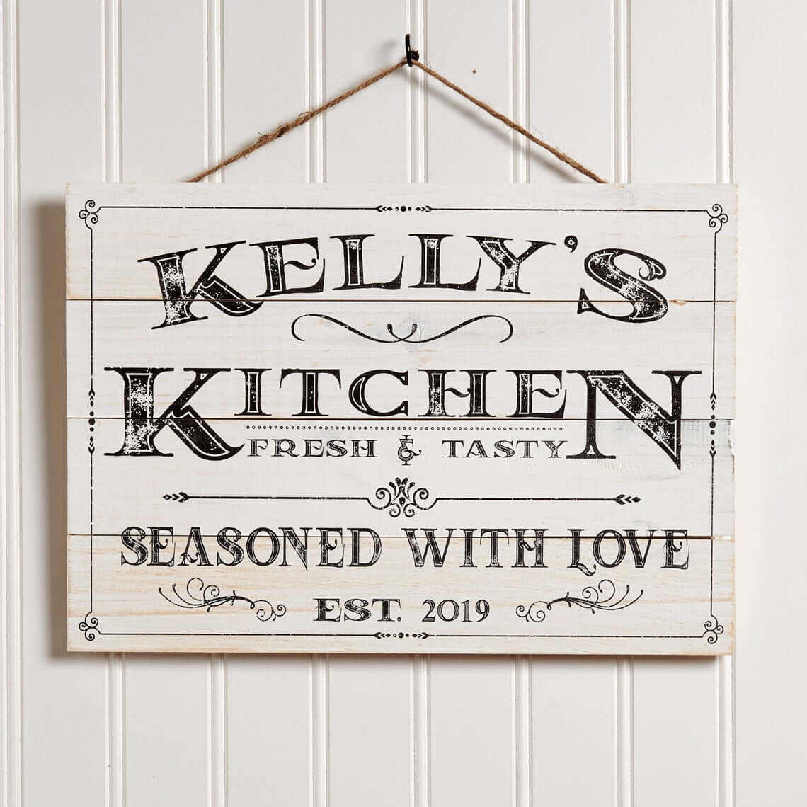 Seasoned with Love Farmhouse Kitchen Sign