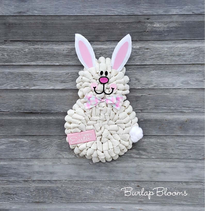 Darling White Spring Peep Easter Bunny