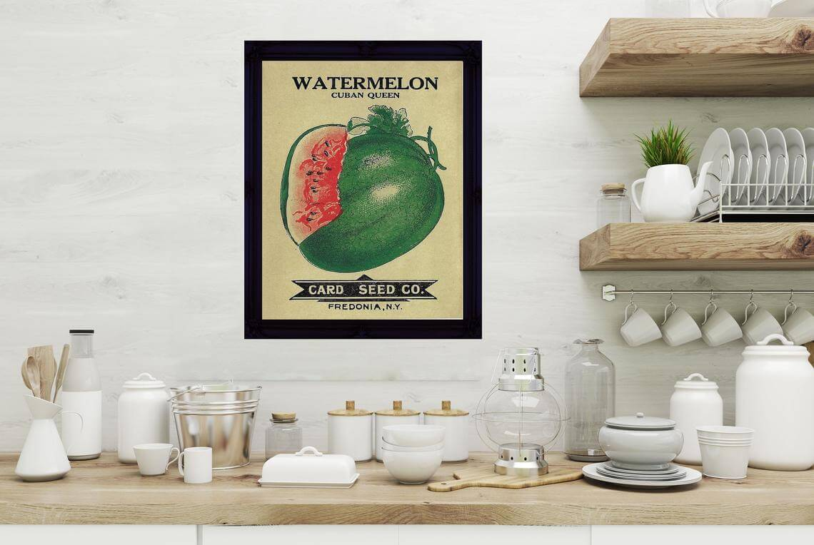 Sweet Seeds of Watermelon Decorative Kitchen Poster