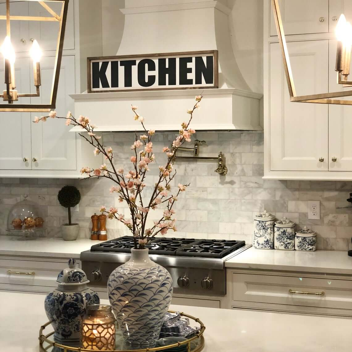 Black and White Wood Trimmed Kitchen Sign
