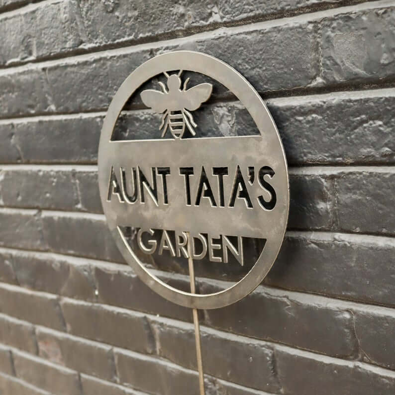 Personalized Garden Marker Metal Sign
