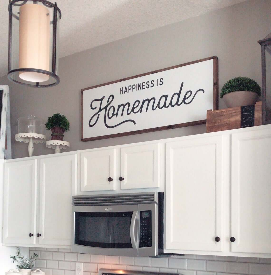 Happiness is Homemade Farmhouse Kitchen Sign
