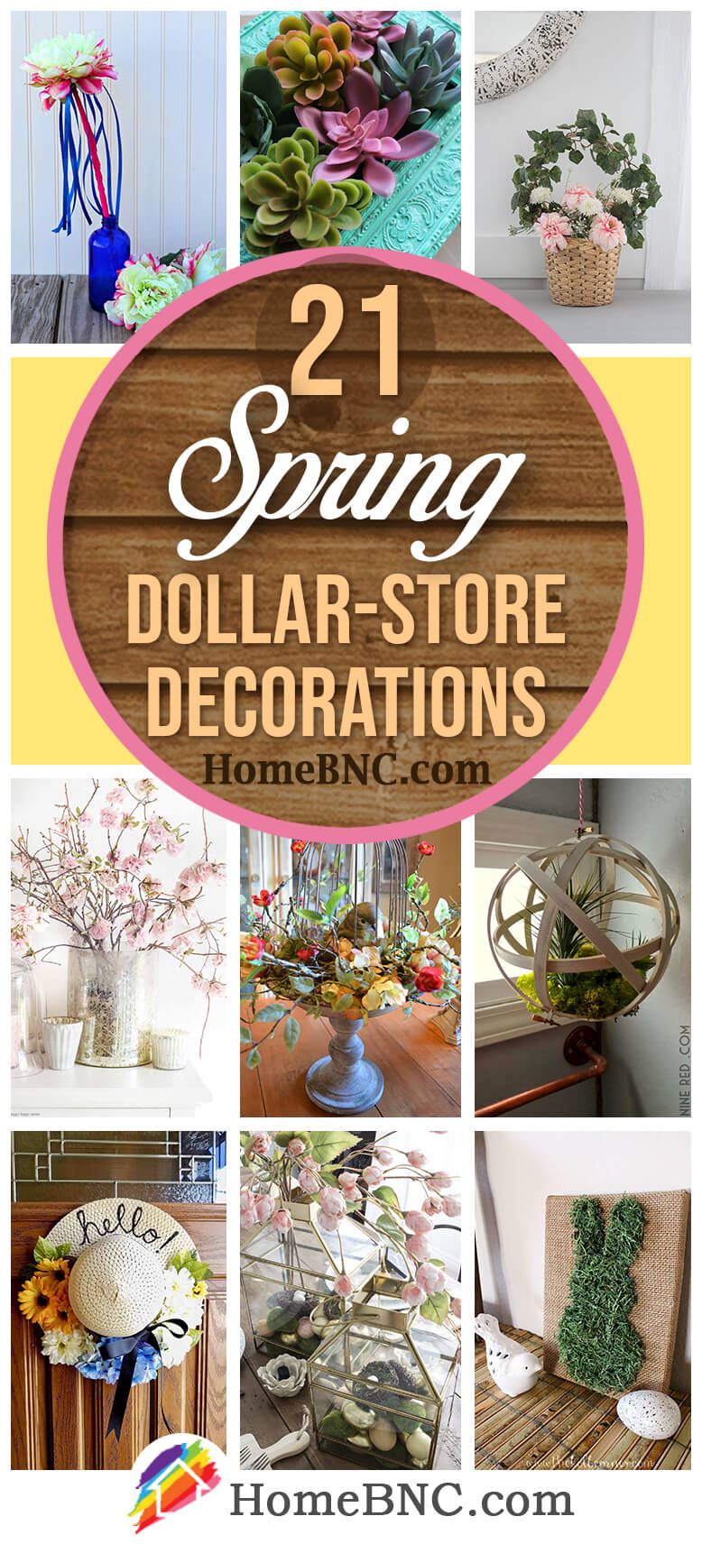 Best Spring Dollar Store Decor Ideas