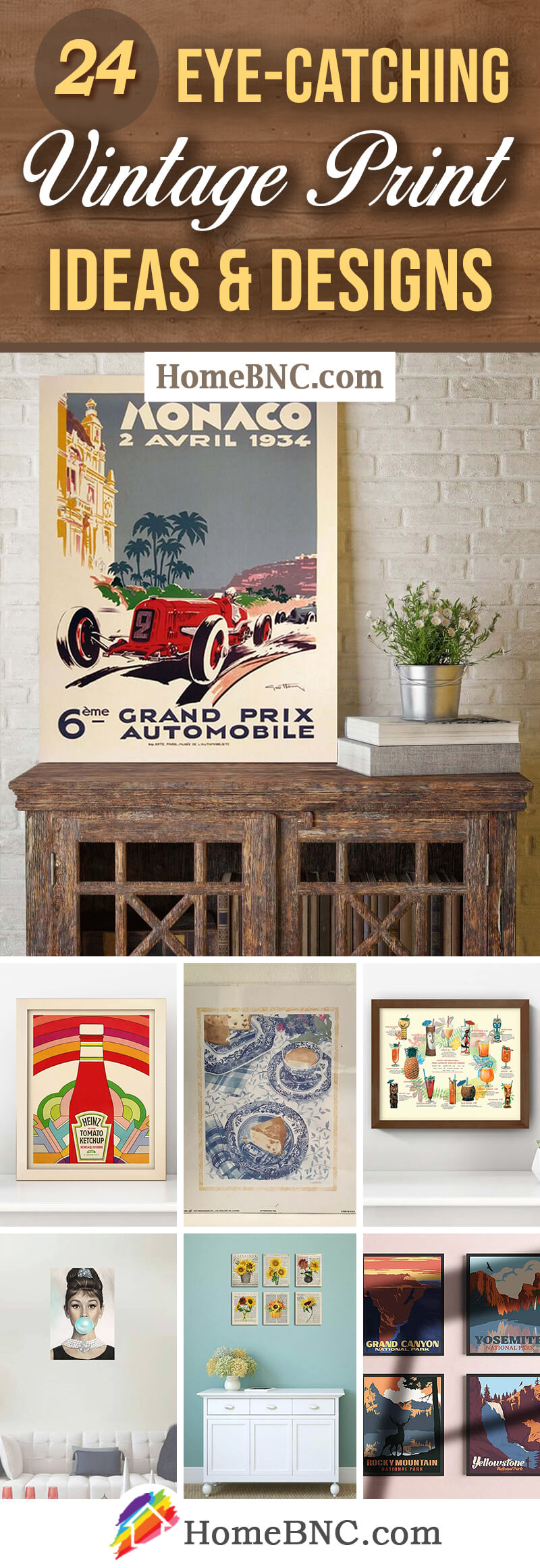 Best Vintage Posters and Print Ideas