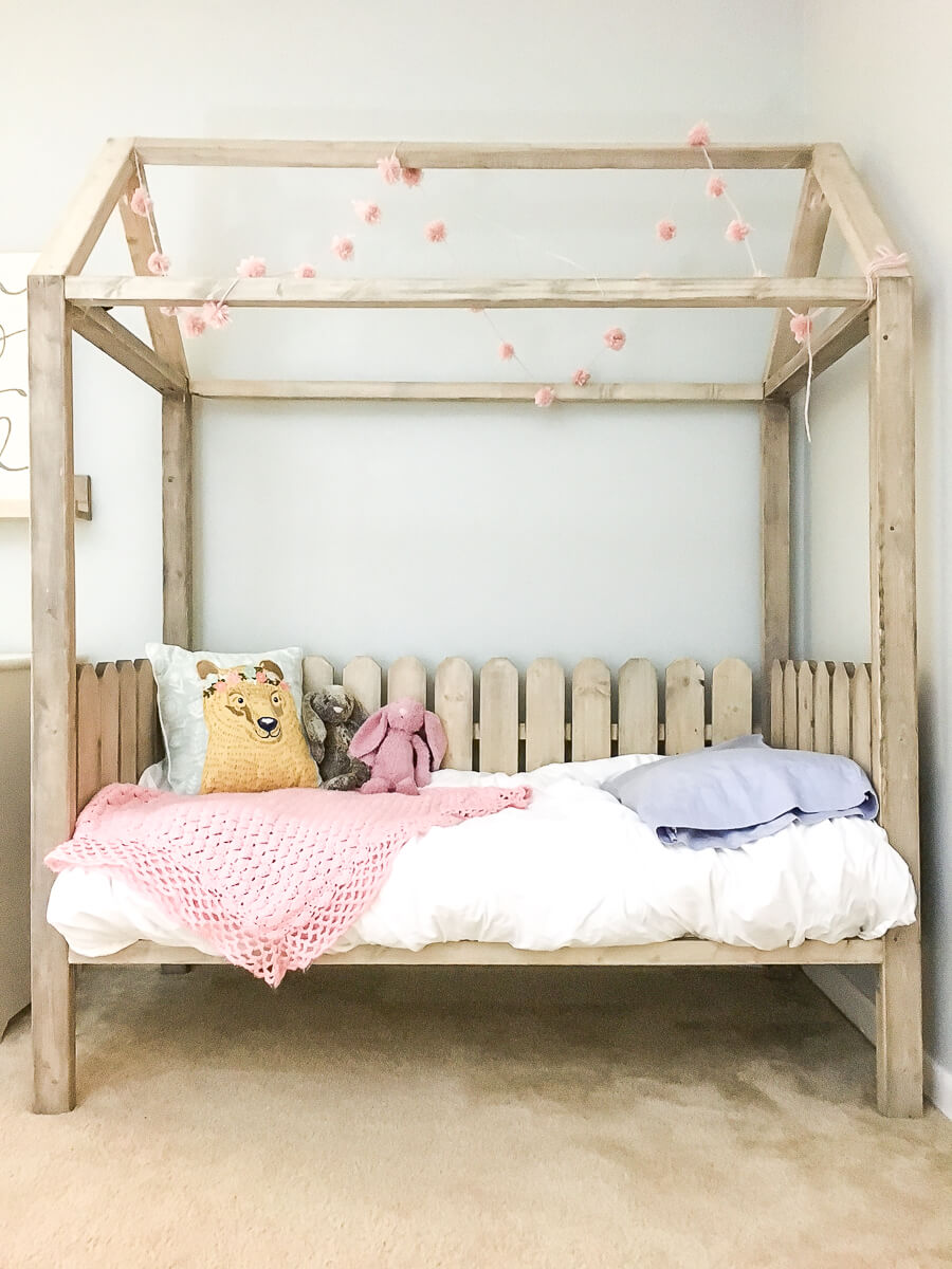 Adorable Whimsical Toddler House Bed