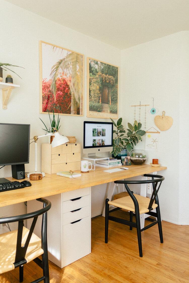 Cool Modernized Double Workspace Setup