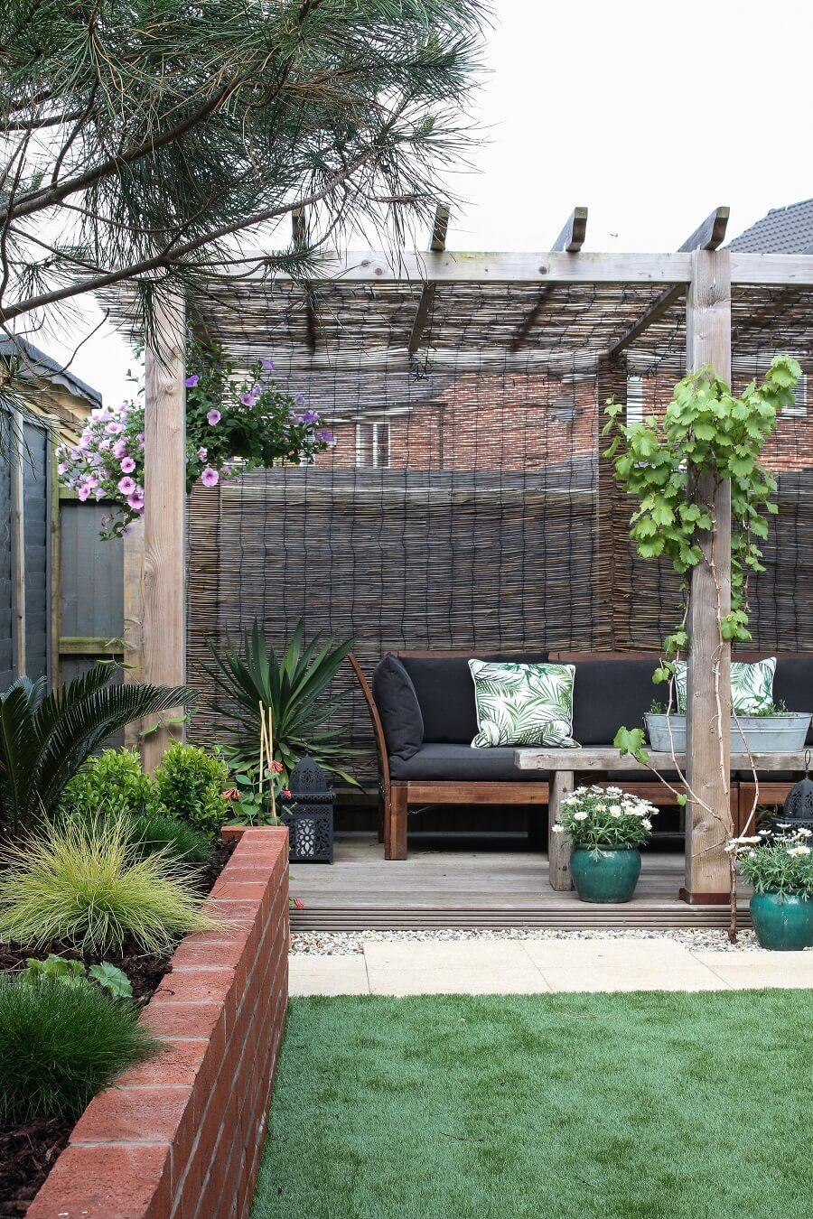 Intimate Pergola and Raised Garden Bed