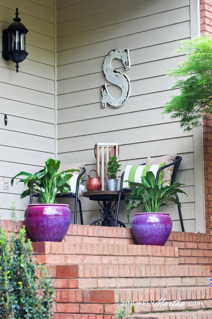Simple Rustic Letter Porch Sign
