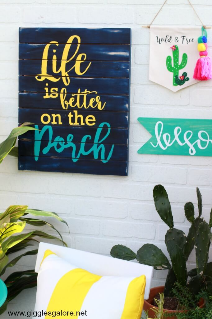 Bright and Cheerful Hand-Painted Porch Sign