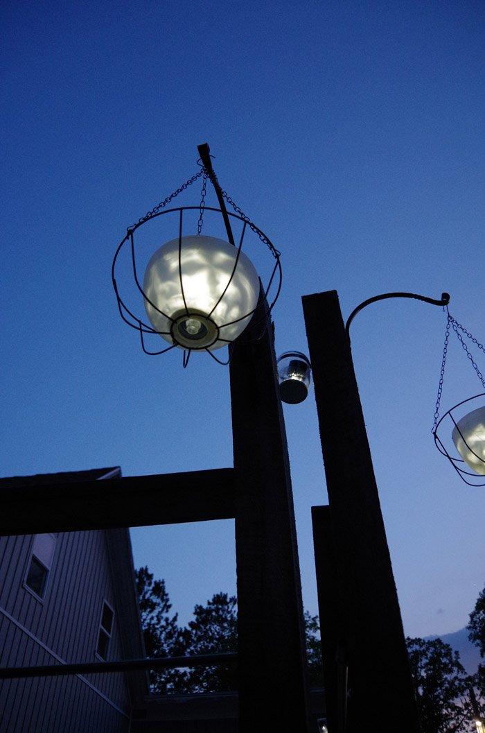 Repurposed Planters Reimagined Solar Pendant Lights