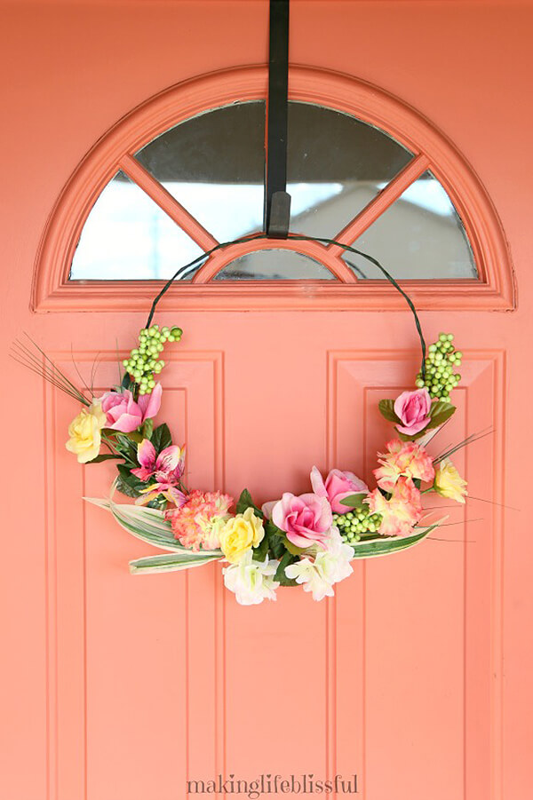 Stunning Spring Wreath with Dollar Store Finds