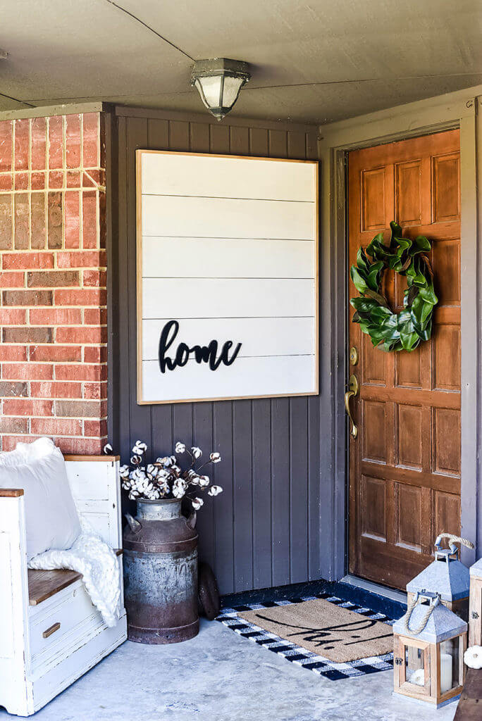 "Elegant and Bold ""Home"" Sign"