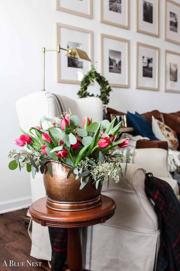Amazing Tulip and Greenery Display