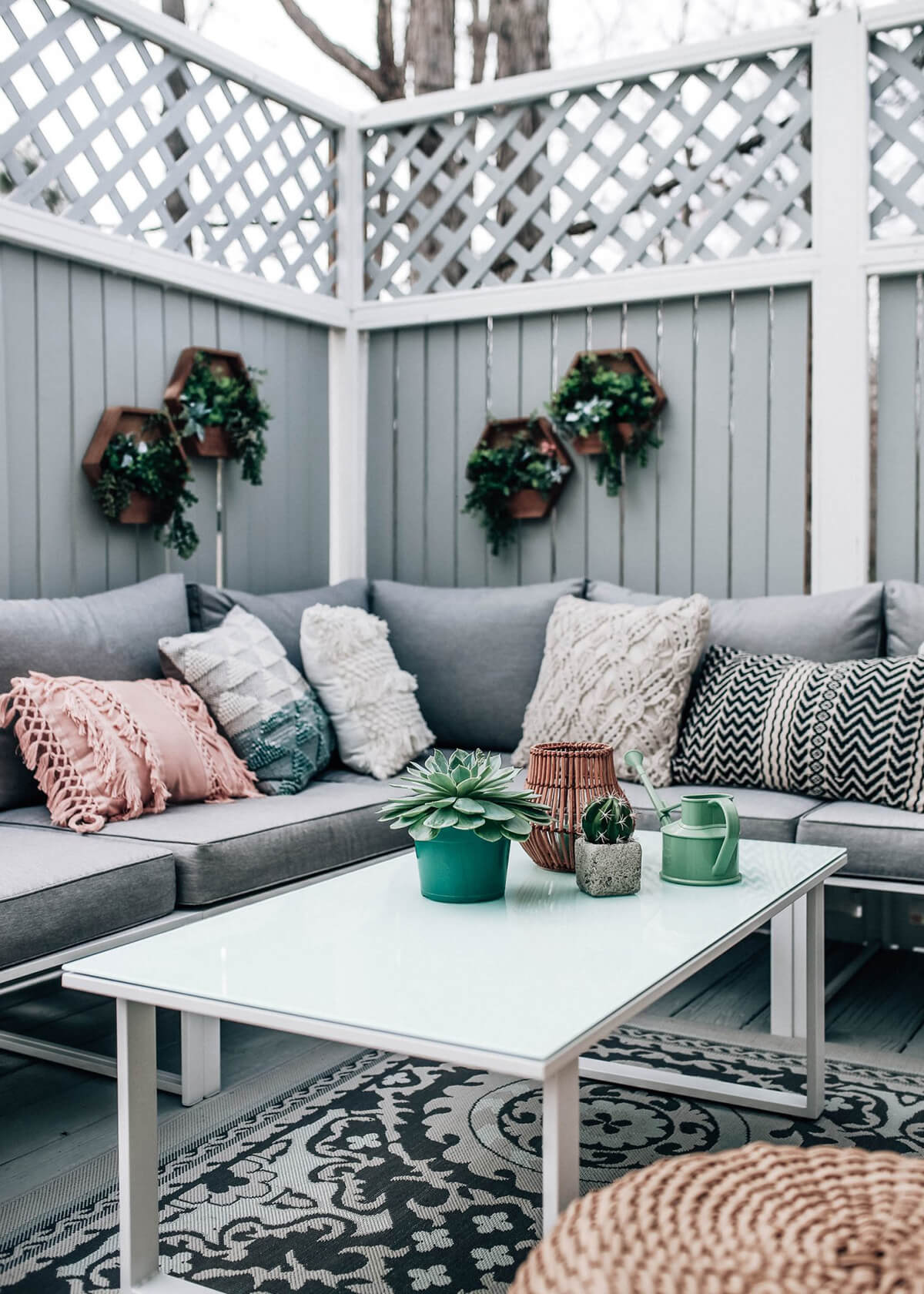 Inviting Back Porch Sitting Area is Soothing