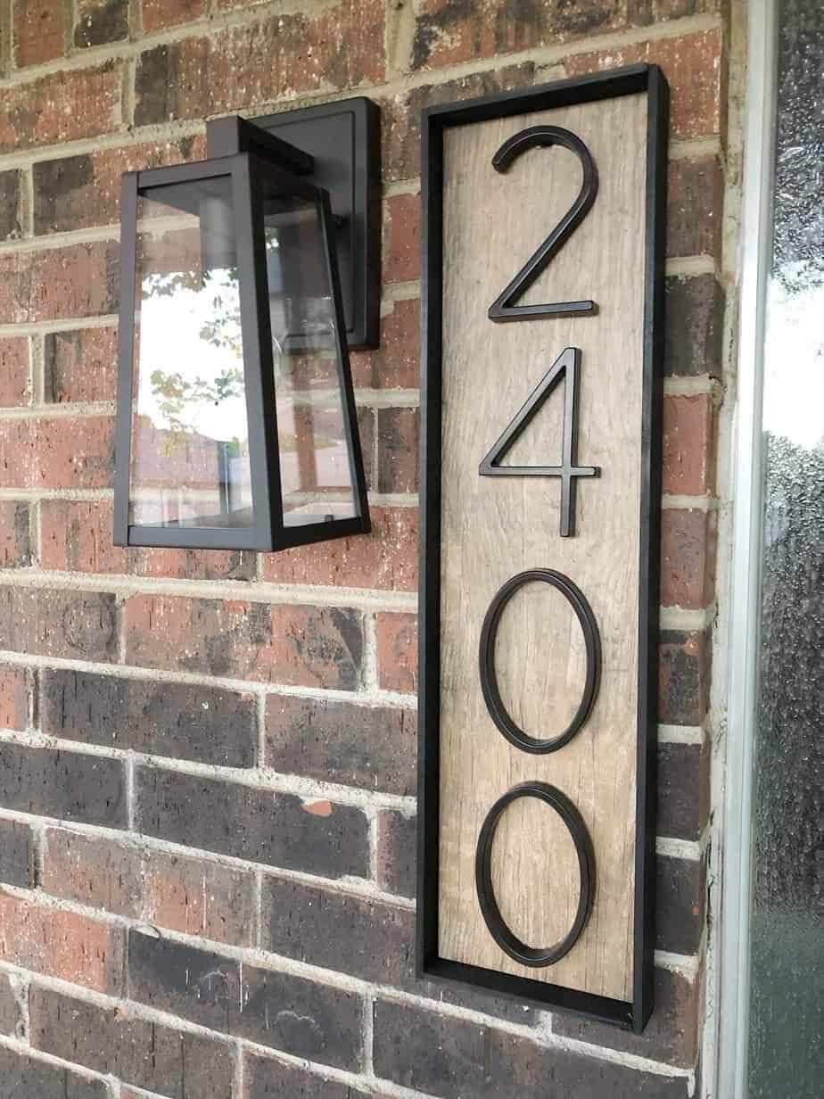 Modern Custom Framed Address Sign