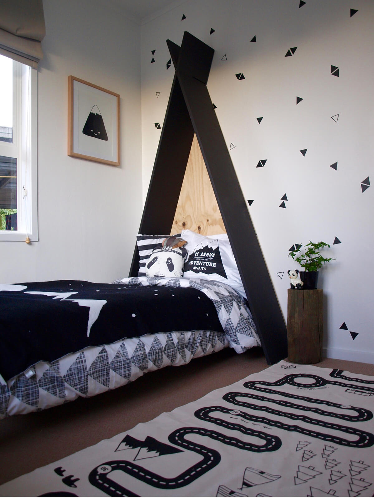 Teepee Inspired Toddler Bed Head