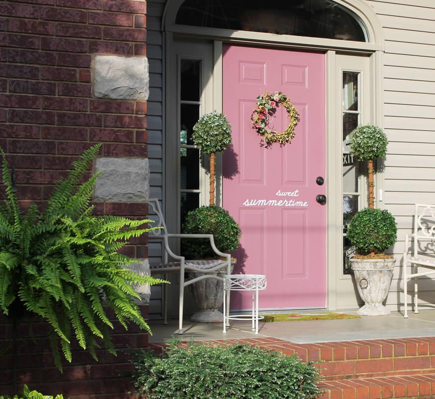 Sweet Summertime Pink Door with Quip