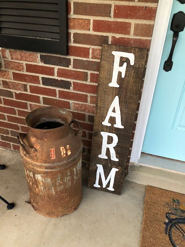 Hand-Painted Farmhouse Style Wooden Sign
