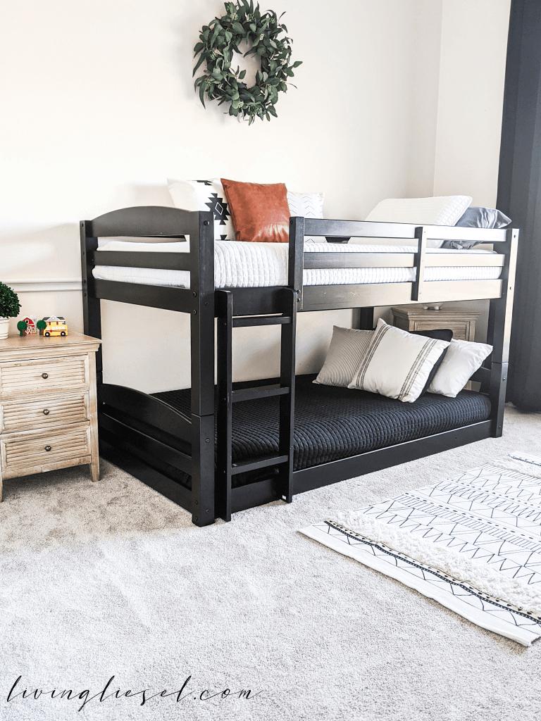 Sleek Boho Styled Toddler Bunk Bed