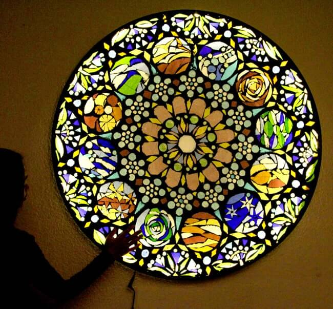 Stained Mosaic Glass Wall Light