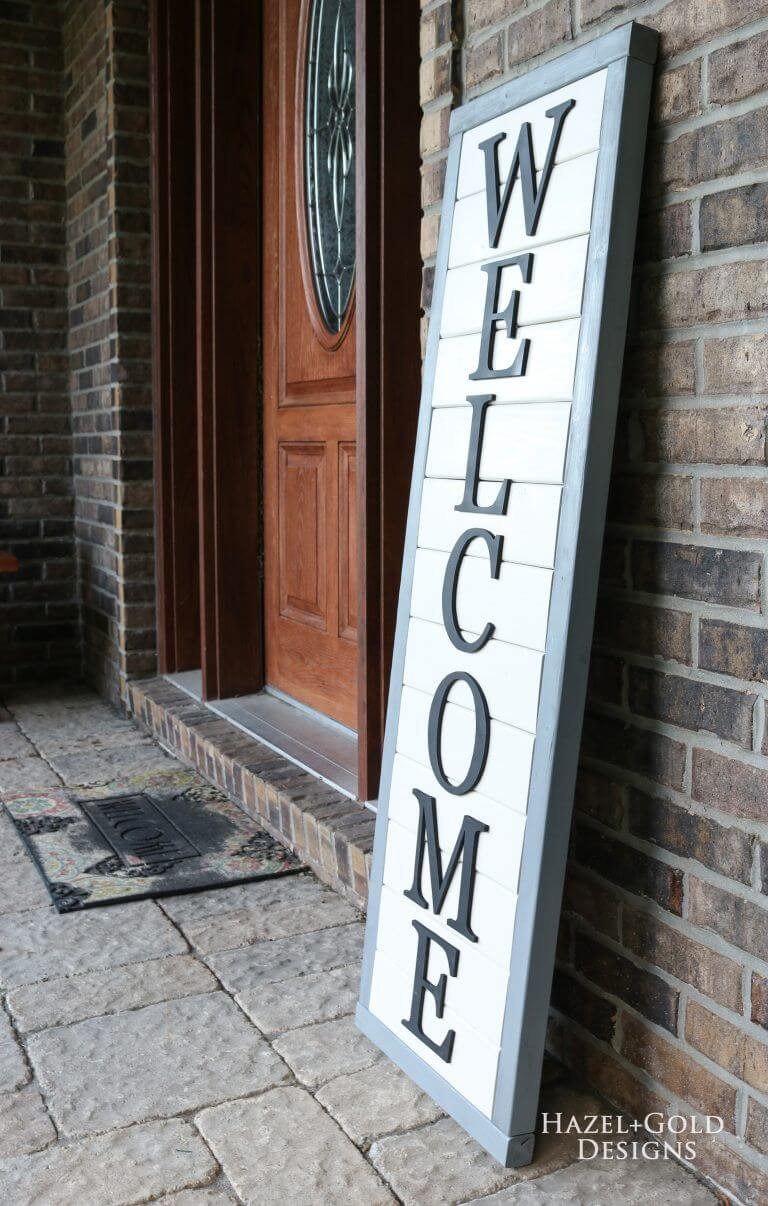 Inexpensive Wooden Lettering Welcome Sign