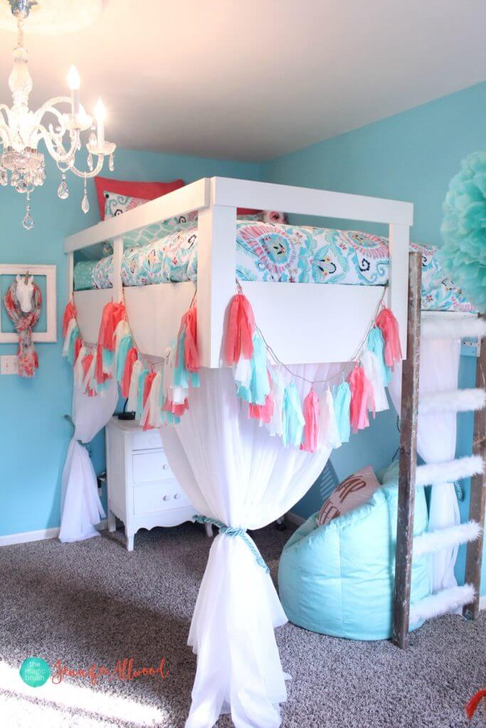 Bright and Cheerful Loft Bed