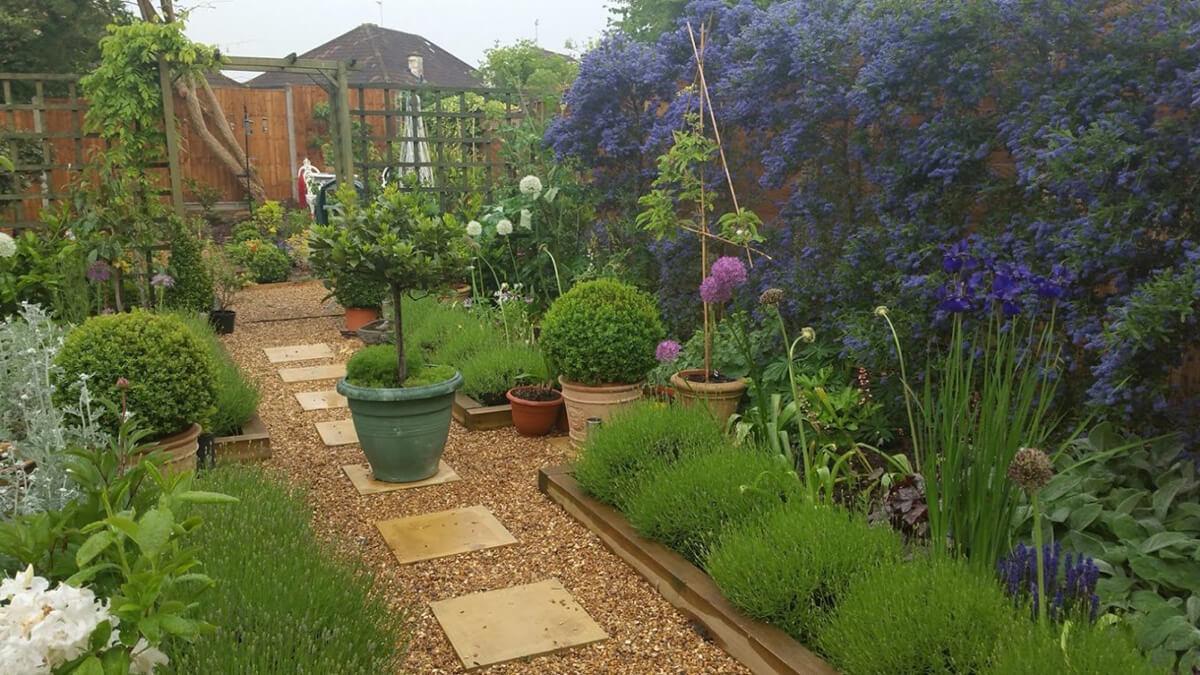 Large Vibrant Walkthrough Garden Oasis