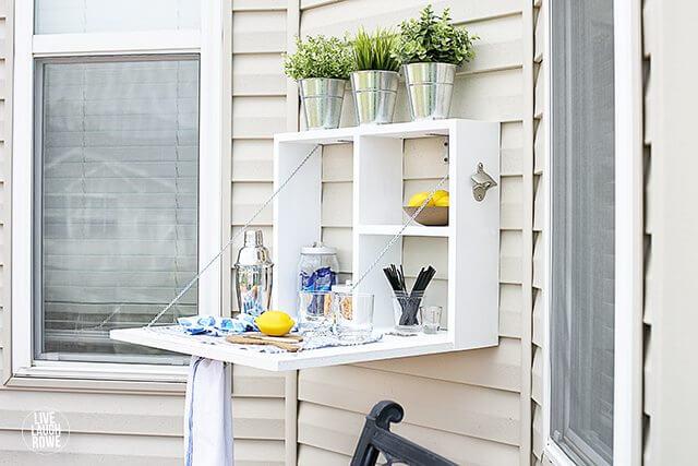 A Unique and Versatile Outdoor Serving Station