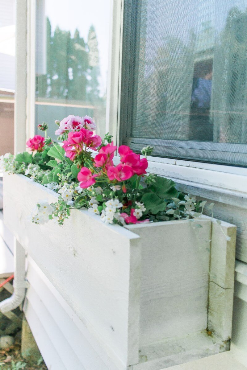 Turn a Pallet into a Window Planter Box
