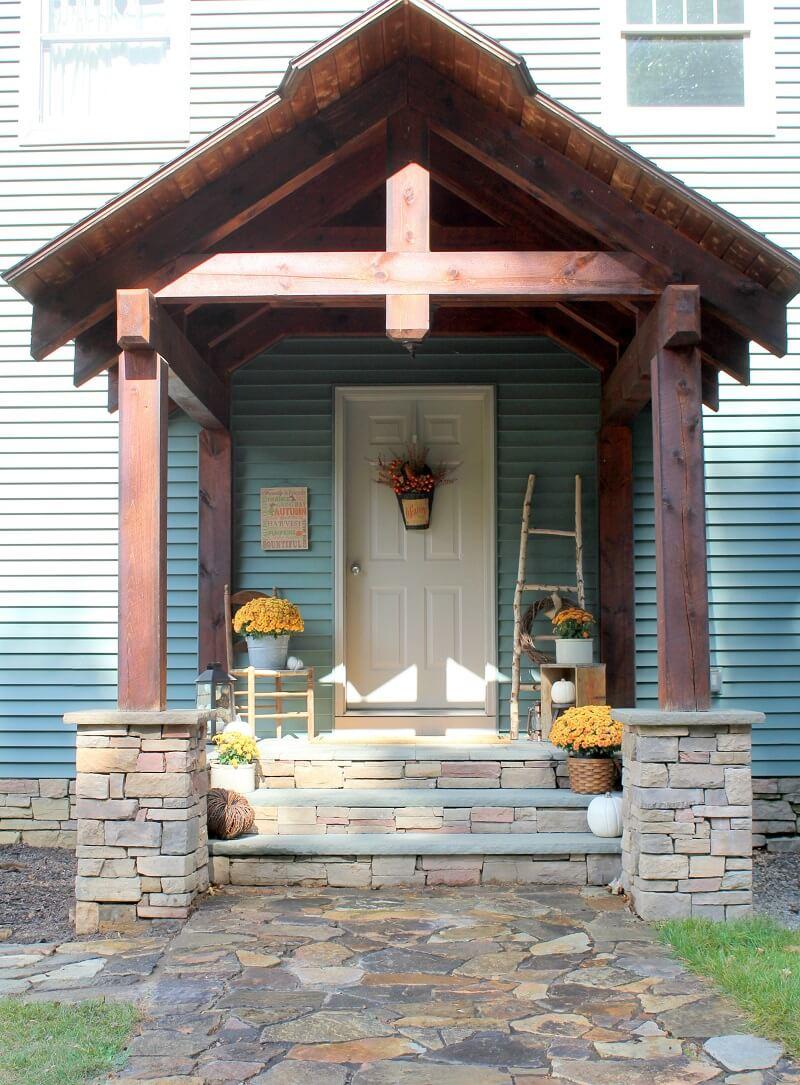 Fall-Inspired Homemade Birch Ladder
