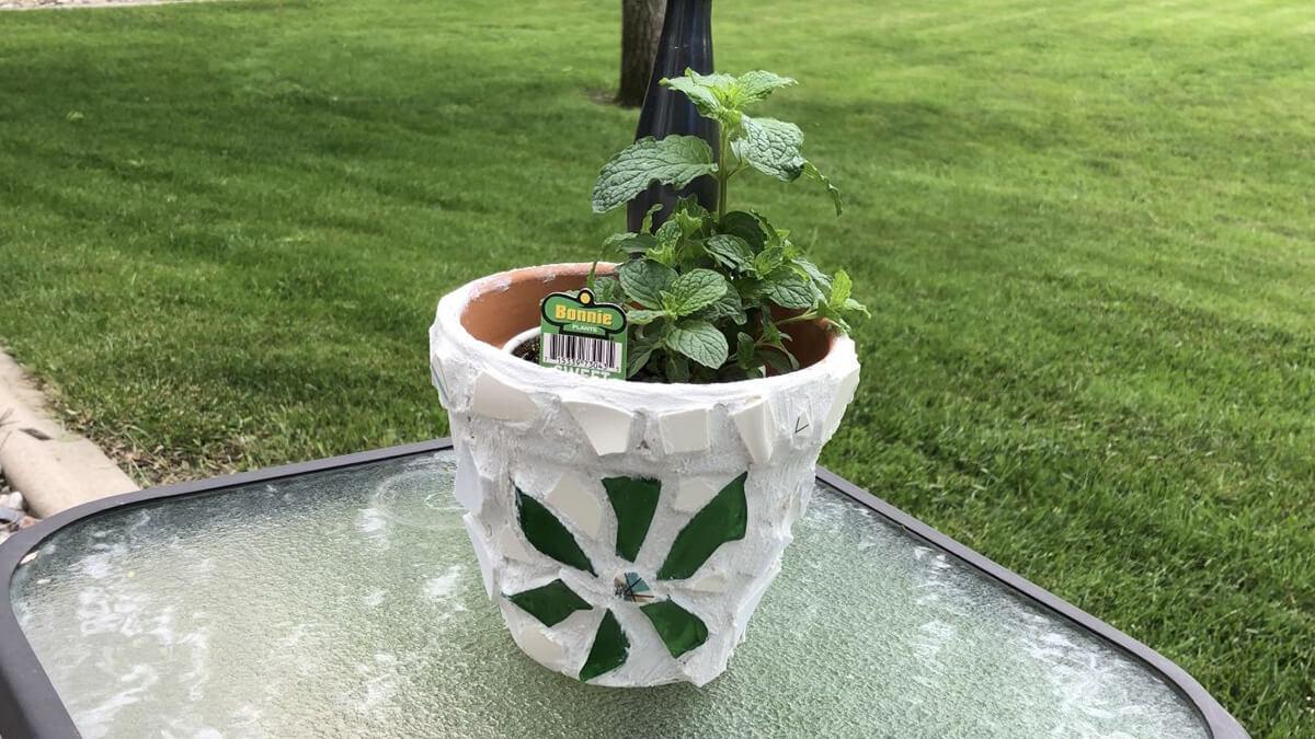 Terra Cotta Mosaic Flower Pots