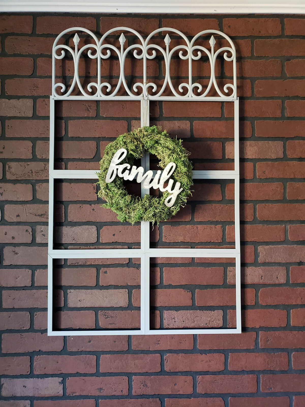 Painted Charming Window and Wreath