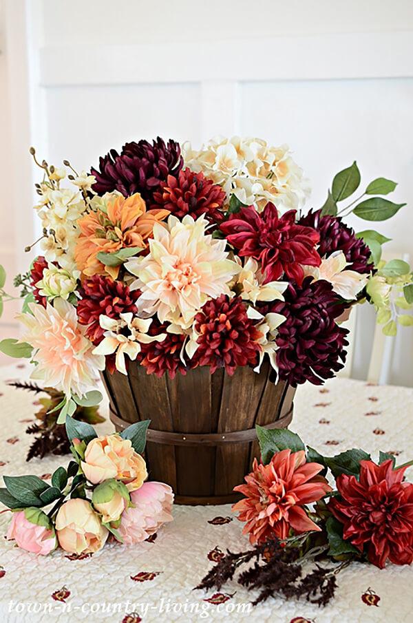 Silk Fall Beautiful Flower Display