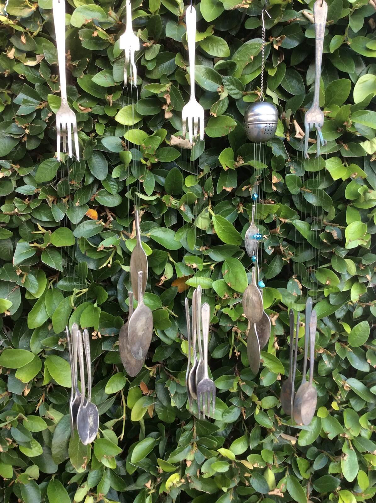 Unique Utensil Wind Chime Upcycling Idea