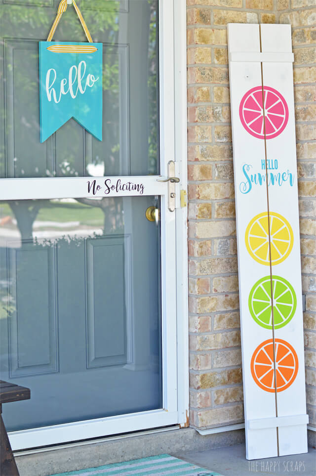 Cheerful Citrus Summer Porch Sign