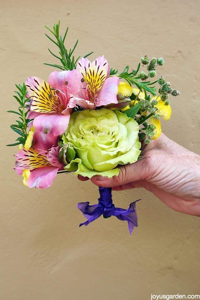Stunning Flower and Herb Corsage