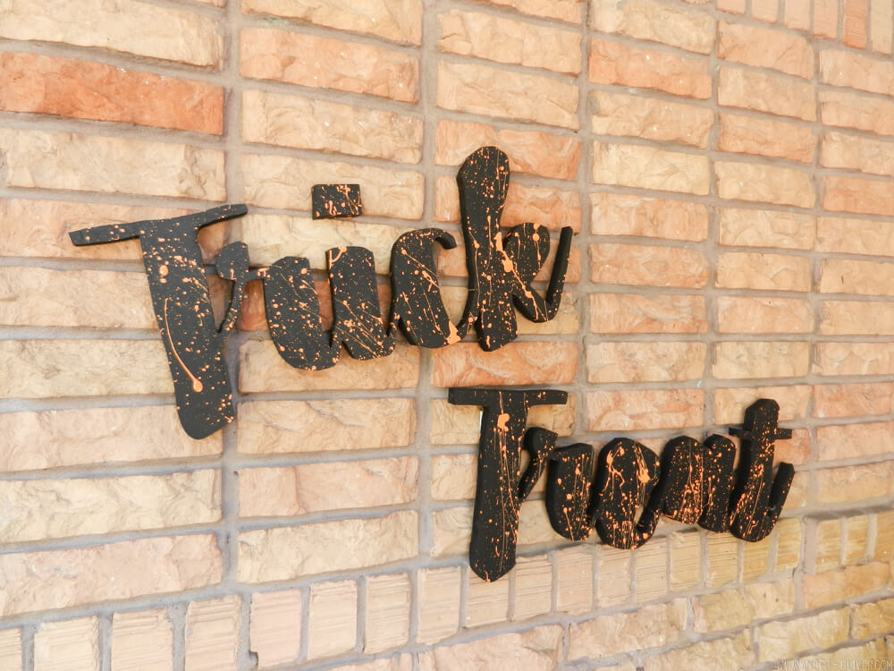 Oversized Wooden Cut Out Words