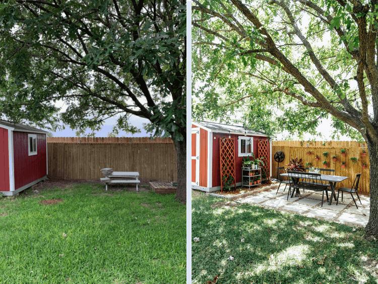 Backyard Corner Dining Room Garden