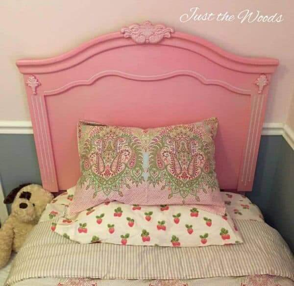 Gorgeous Painted Toddler Bed Headboard