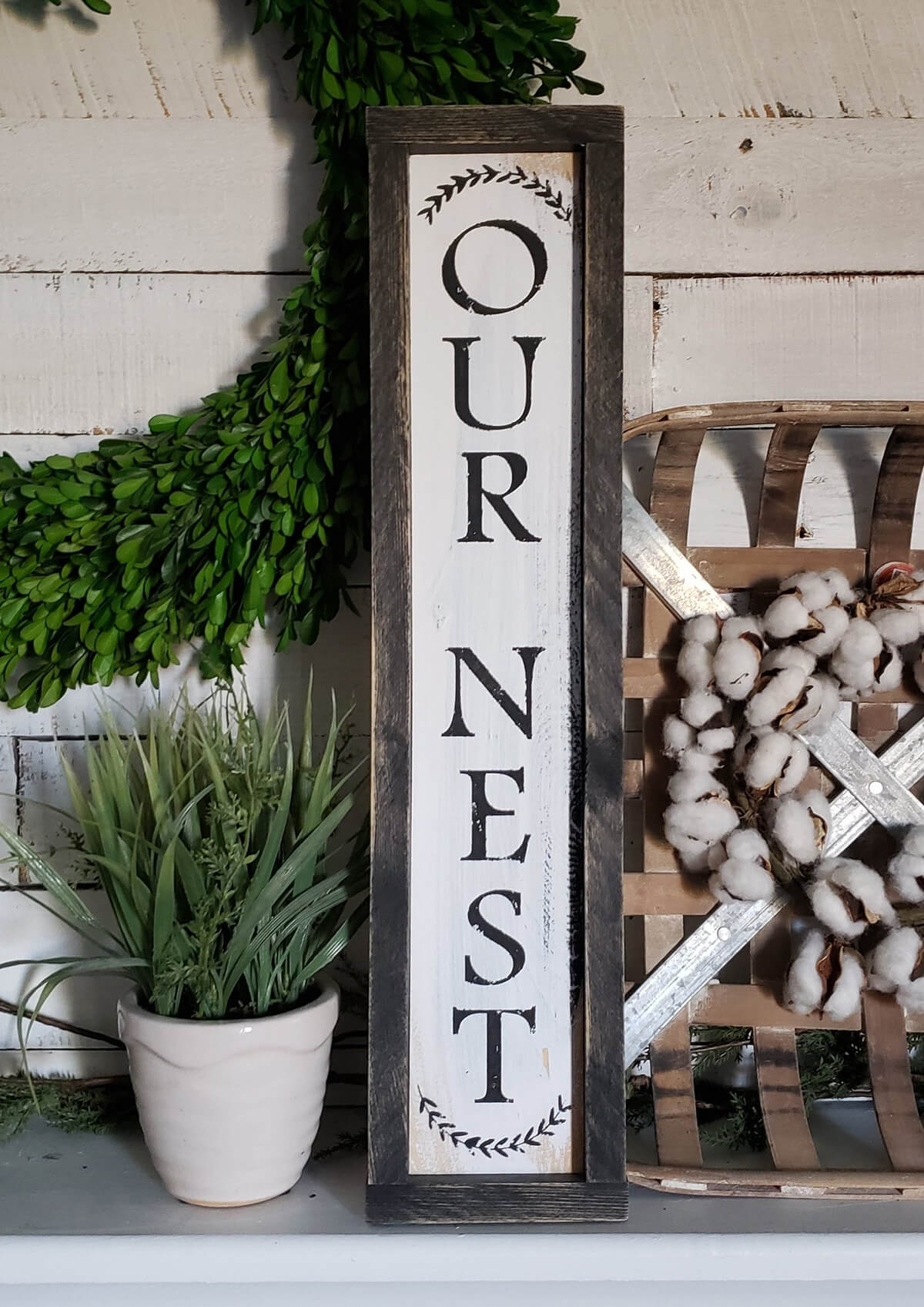 "Framed ""Our Nest"" Front Porch Décor"
