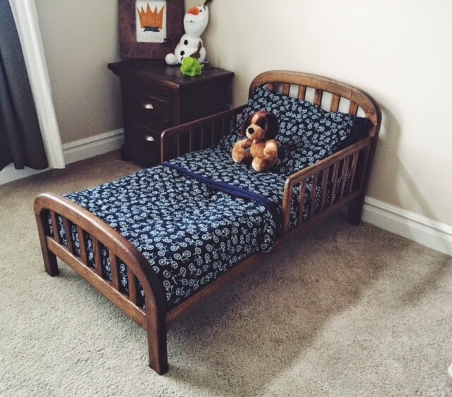 Upcycled Crib Wooden Toddler Bed