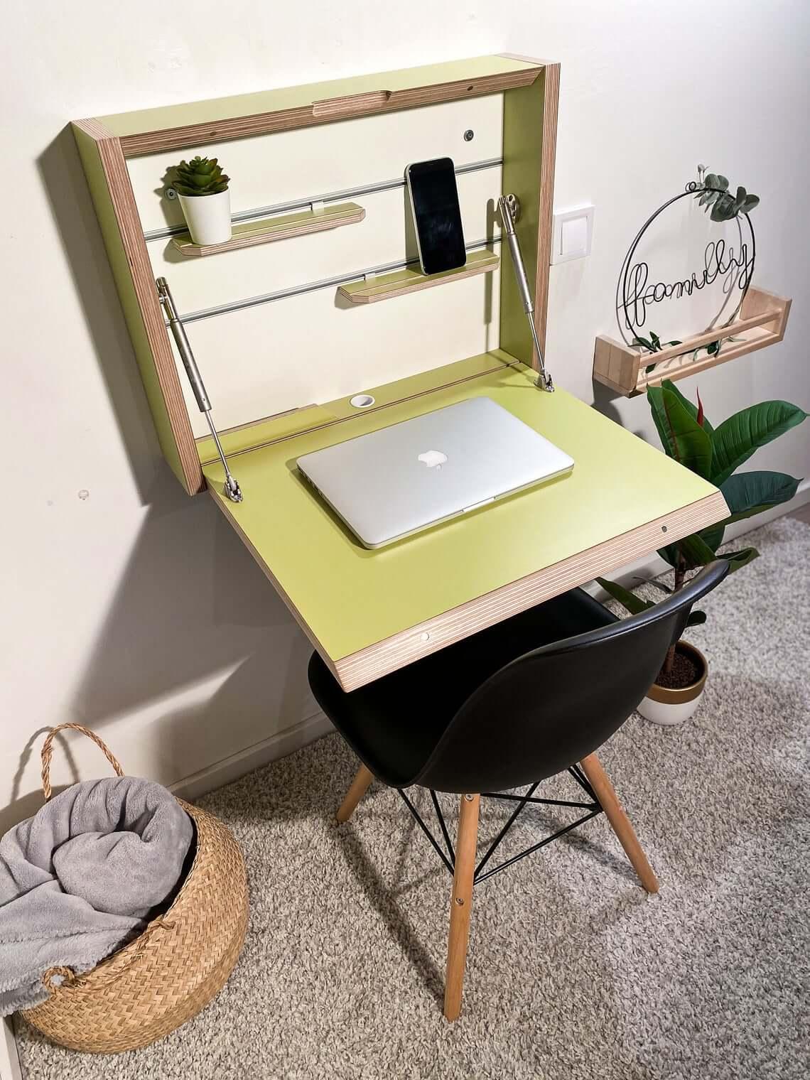 Fold Down Space Saving Study Desk