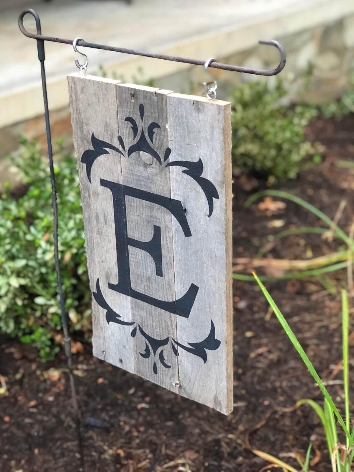 Monogrammed Garden Sign Outdoor Décor