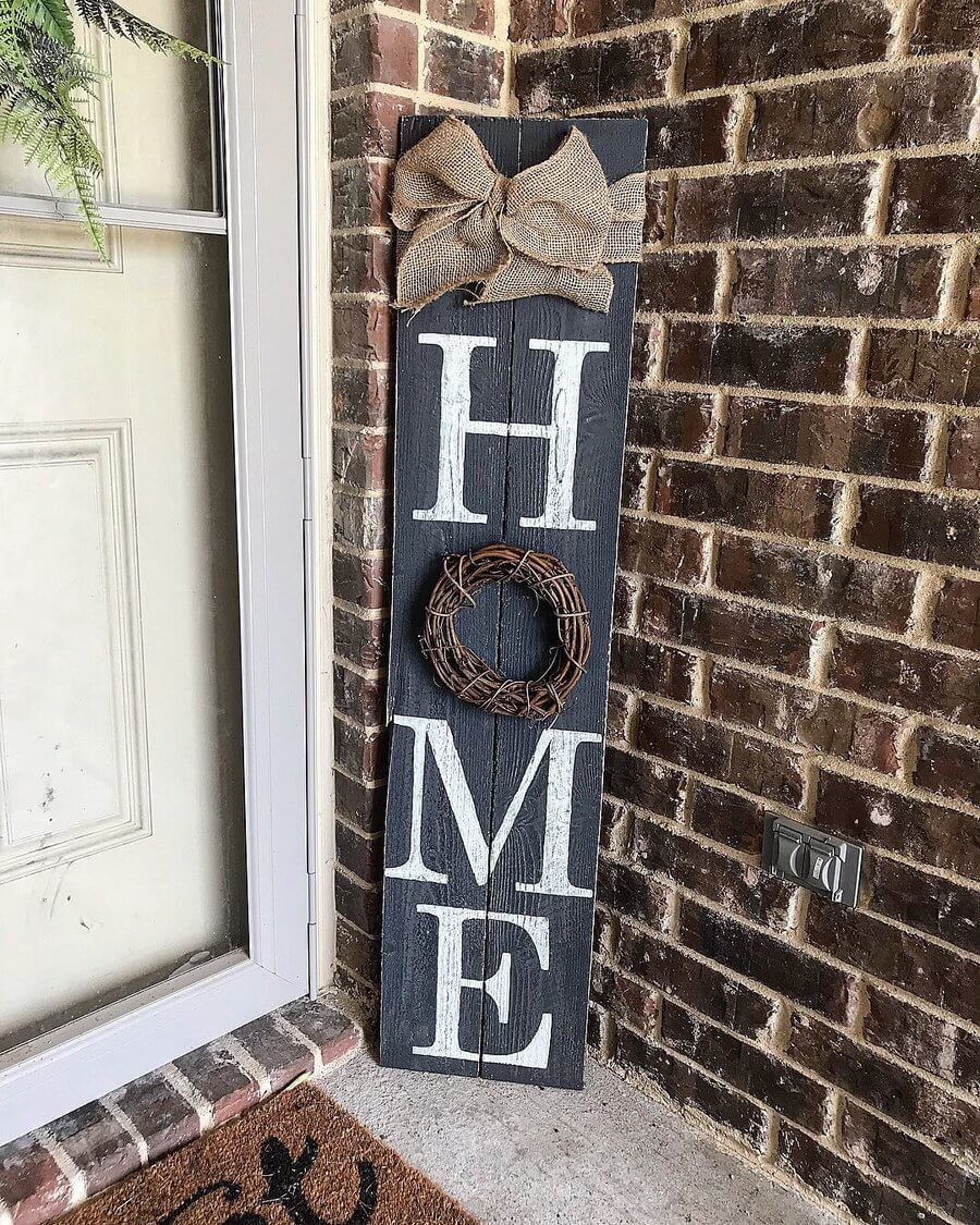 "4FT Tall ""Home"" Front Porch Sign"
