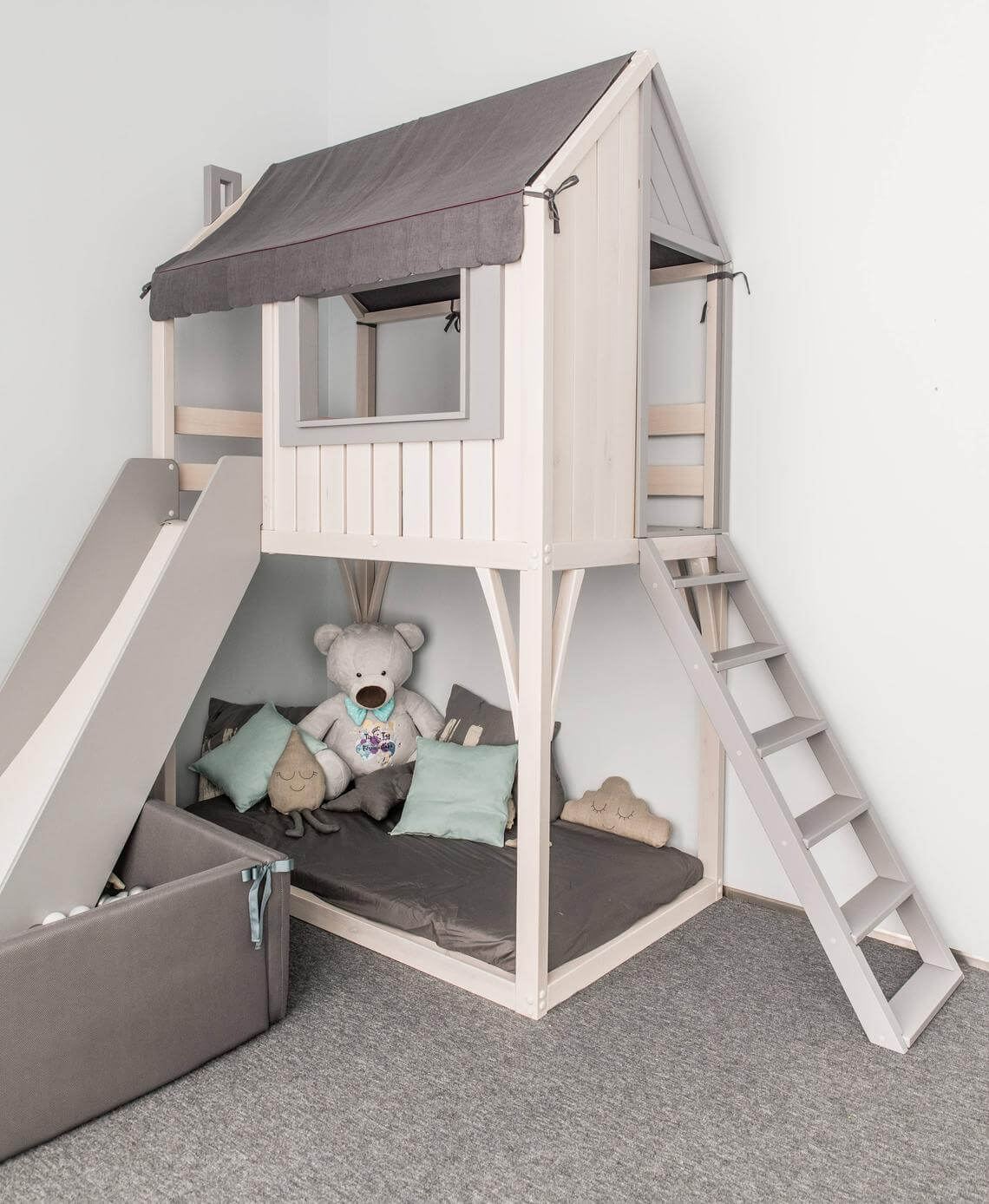 Awesome Playhouse Wooden Toddler Loft Bed
