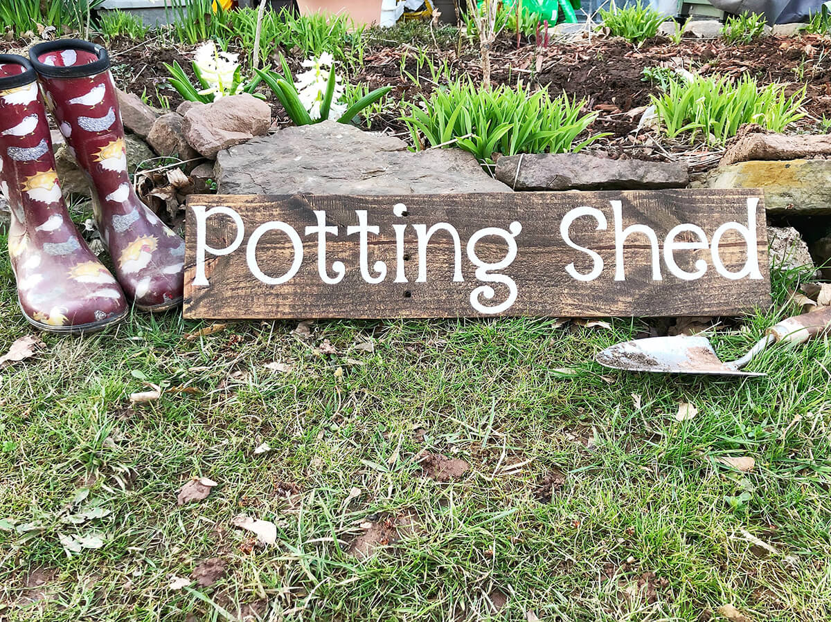 Personalized Outdoor Potting Shed Sign