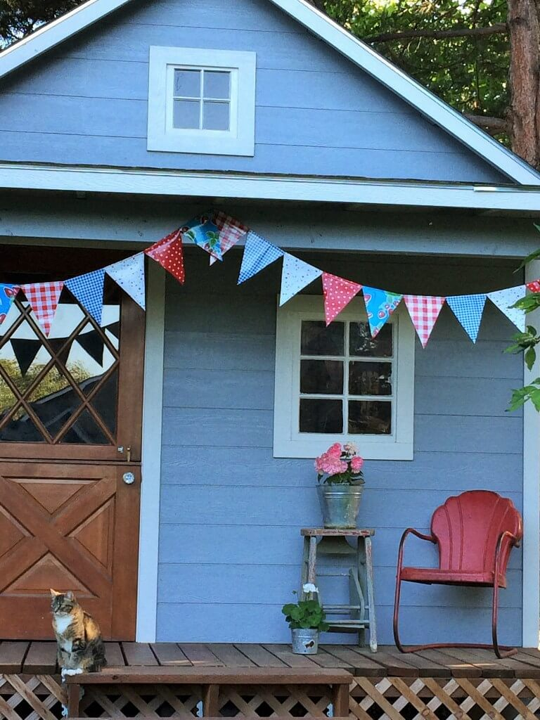 Bright and Playful Patterened Oilcloth Bunting
