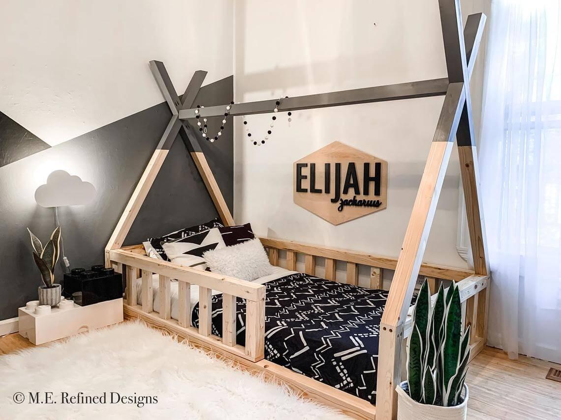 Amazing Farmhouse Style Chunky Teepee Bed
